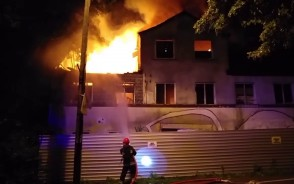 Nocny pożar w Oliwie