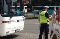 Policja kontroluje autokar w Gdańsku