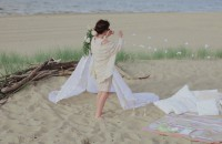 Boho wedding session on a beach/foto i video Atelier Wspomnień
