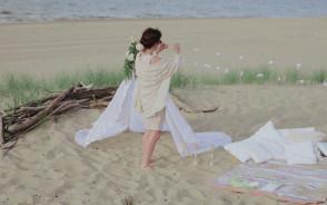 Boho wedding session on a beach/foto i video Atelier Wspomnień