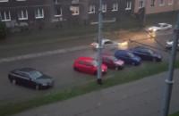 Zalane torowisko i ulica Kartuska