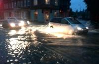Potok na ulicy Małomiejskiej.