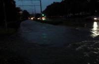 Zalana Kartuska, tory pod wodą przystanek Zakopiańska