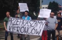 Antyparkingowy protest w Brzeźnie