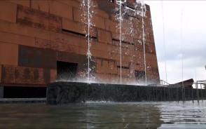 Po wielu miesiącach przerwy fontanna przy ECS znów działa