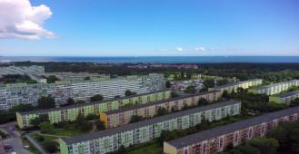 Widok z drona przy Os. Spektrum na Przymorzu