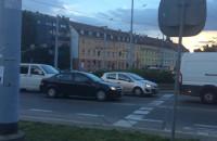 Wykolejony tramwaj zablokował Hucisko