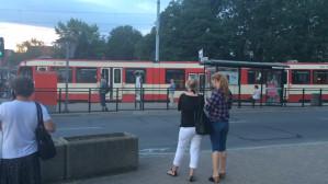 Awaria tramwaju na Hucisku