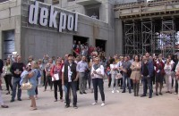 Zawieszenie wiechy na kompleksie Nowa Motława