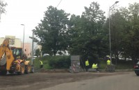 Utrudnienia na ul. Trzy Lipy - roboty drogowe