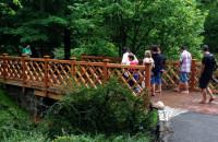 Nowe mostki w Parku Oliwskim