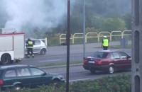 Pali się auto na Słowackiego