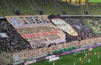 Lechia Gdańsk traci gola w meczu z Termaliką Nieciecza. Sektorówka kibiców