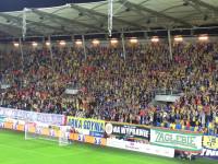 Na meczu Arka Gdynia - Zagłębie Lubin doping dla obu drużyn