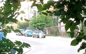 Policyjna akcja na ul. Płockiej w Gdańsku