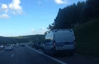 Wypadek na obwodnicy za węzłem Karwiny w stronę Gdańska