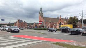 Nowe czerwone przejazdy dla rowerzystów