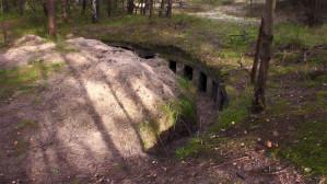 Wysprzątany bunkier przy plaży na Stogach
