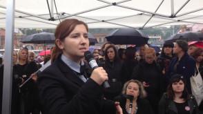 Przemowa Barbary Kijewskiej na Czarnym Proteście