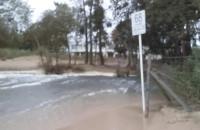 Zalane wejście na plażę w Jelitkowie