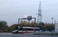 Wypadek autobus i osobówka na Jabłoniowej