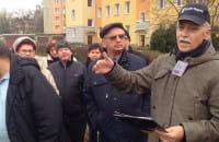 Protest mieszkańców przeciw rozbudowie Komierowskiego