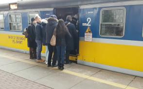 Więcej niż zwykle pasażerów w SKM
