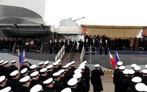 Hymn Polski podczas 98. Rocznicy Odtworzenia Marynarki Wojennej