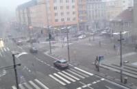 Sypie śnieg w centrum Gdyni