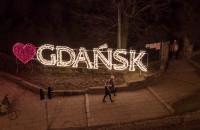 Świąteczny Gdańsk z lotu ptaka - Wesołych Świąt