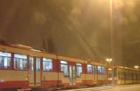 Stoją tramwaje z Chełma w stronę centrum