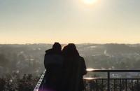 Zimowa aura z wieży widokowej na Ujeścisku