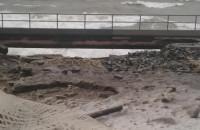 Deptak na Westerplatte po sztormach