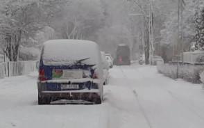 Auto na torowisku na ul. Mazurskiej