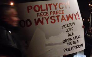 Manifestacja w obronie Muzeum II Wojny Światowej w Gdańsku