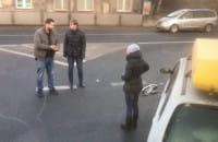 Stłuczka na Trakcie Św. Wojciecha