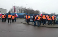 Protest pracowników Lotos Kolej