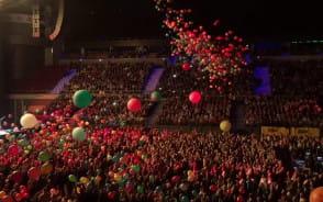 Balony na koncercie Roda Stewarta