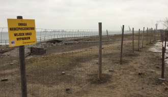 Skutki sztormów na półwyspie Westerplatte