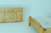 Sypialnia dębowa - na wymiar w stylu rustykalnym.
