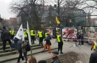Manifa w Gdańsku przy pomniku Sobieskiego