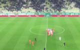 Radość po zwycięstwie Lechii Gdańsk nad Zagłębiem Lubin 1:0