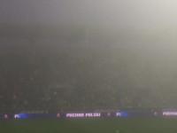 Mgła nad stadionem w Gdyni