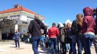 Wielka kolejka na molo w Sopocie