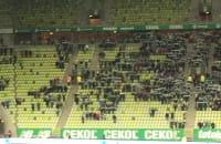Pustki na meczu Lechia - Termalica