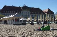 Lodowata majówka na plaży
