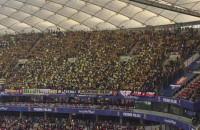 Flagi Arki Gdynia na Stadionie Narodowym w Warszawie