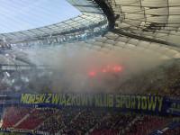 Pokaz pirotechniczny Arki Gdynia w finale Pucharu Polski