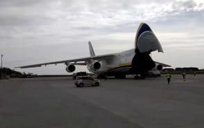 Antonow na lotnisku w Gdańsku