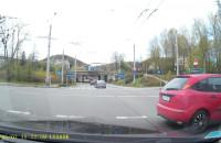 Kierowca uniknął kolizji w Gdyni